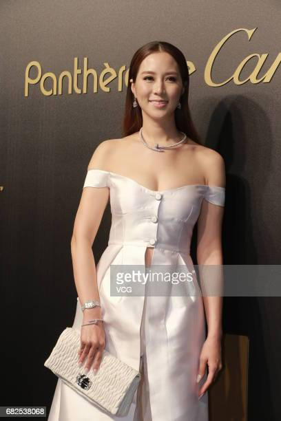 Model Cathy Chui attends the Cartier party on May 12 2017 in Hong Kong China