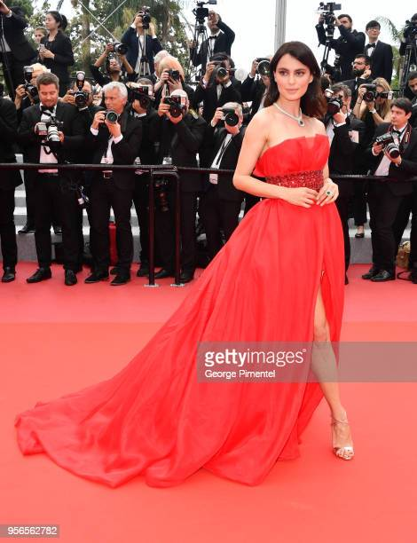 Model Catrinel Marlon attends the screening of Yomeddine during the 71st annual Cannes Film Festival at Palais des Festivals on May 9 2018 in Cannes...