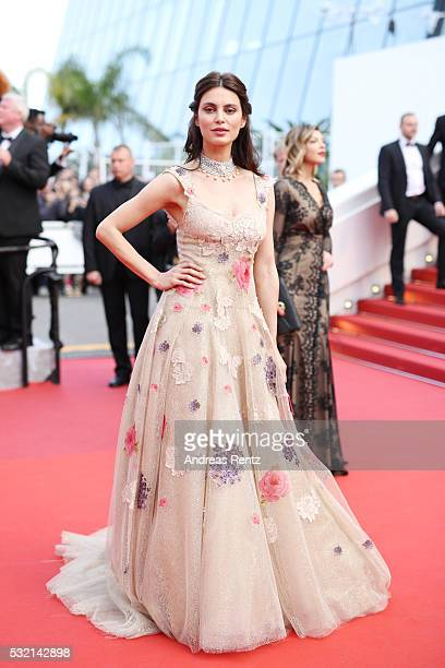 Model Catrinel Marlon attends The Unknown Girl Premiere during the 69th annual Cannes Film Festival at the Palais des Festivals on May 18 2016 in...