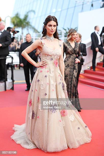 Model Catrinel Marlon attends 'The Unknown Girl ' Premiere during the 69th annual Cannes Film Festival at the Palais des Festivals on May 18 2016 in...