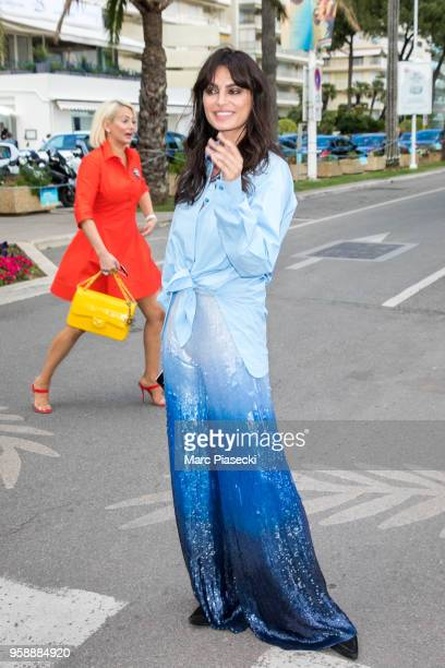 Model Catrinel Menghia is seen during the 71st annual Cannes Film Festival on May 15 2018 in Cannes France