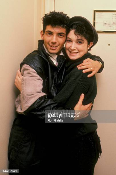 Model Catya Sassoon and husband Luca Scalisi attending Sassoon Exclusive Photo Session on December 13 1984 at the Berkshire Hotel Suite in New York...
