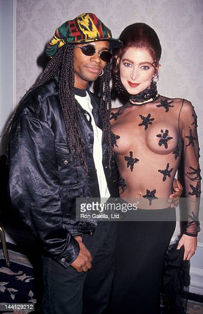 Model Catya Sassoon and singer Fabrice Morvan attending Cocktail Party for Playboy's Playmate of the Year on May 13 1993 at the Plaza Hotel in New...
