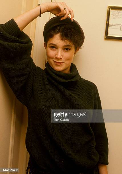 Model Catya Sassoon attending Sassoon Exclusive Photo Session on December 13 1984 at the Berkshire Hotel Suite in New York City New York