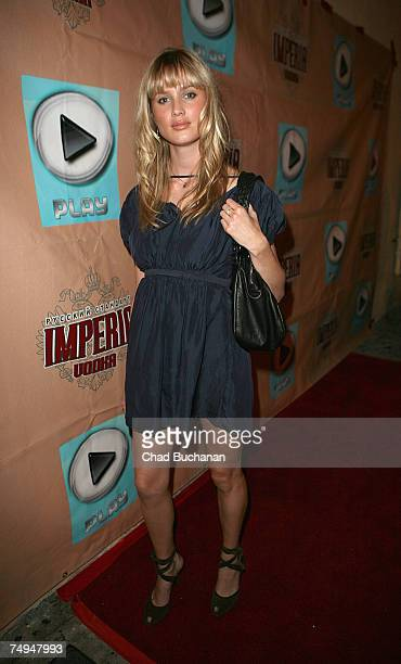 Model Celesta Hodge attends the 'Help Find Madeline' Red Carpet Benefit at Play Nightclub on June 28 2007 in Los Angeles California