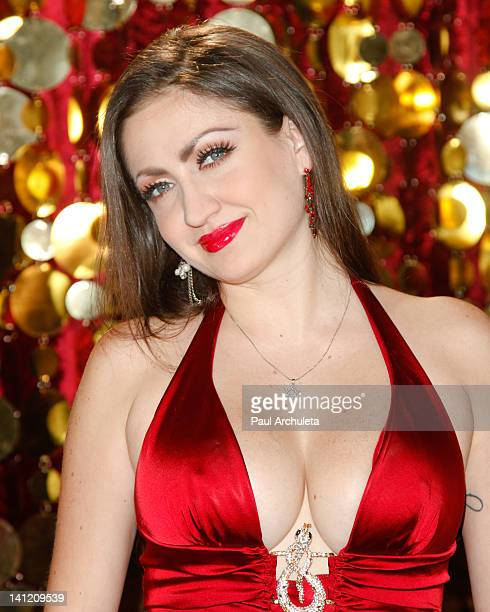 Model Celia Lora attends the Estrella TV's Hit dance series Mi Sueno Es Bailar season 3 press conference at Liberman Broadcasting on March 12 2012 in...