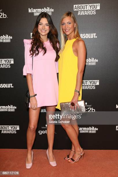 Model Celine Bethmann and Serlina Hohmann gntm during the ABOUT YOU AWARDS at the 'Mehr Theater' in Hamburg on May 4 2017 in Hamburg Germany