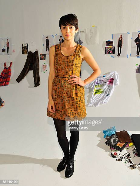 Model Ceren Alkac attends the Fall 2009 presentation of Whitley Kros at Miauhaus on March 15 2009 in Los Angeles California