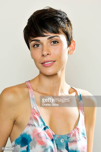 Model Ceren Alkac poses for a portrait at Fashion Group International of Los Angeles' Meet The Designers at the Standard Hotel on October 12 2009 in...