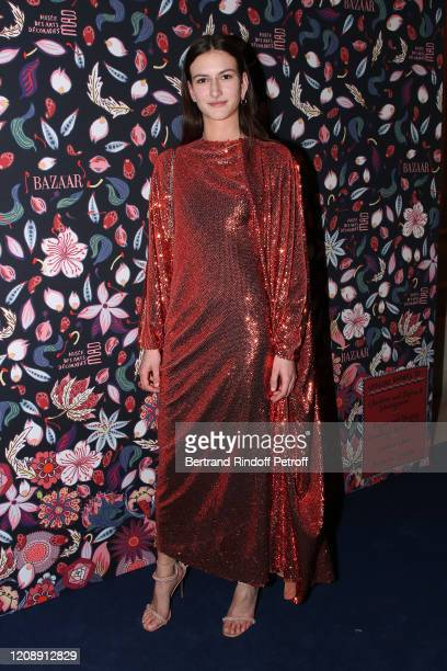 Model Chai Maximus attends the Harper's Bazaar Exhibition as part of the Paris Fashion Week Womenswear Fall/Winter 2020/2021 At Musee Des Arts...
