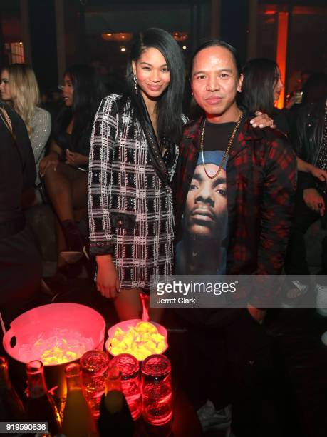 Model Chanel Iman and Revolve Founder Michael Mente attend MVP Weekend with Travis Scott at Avenue Los Angeles presented by Remy Martin on February...