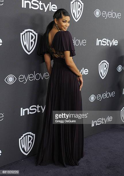 Model Chanel Iman arrives at the 18th Annual PostGolden Globes Party hosted by Warner Bros Pictures and InStyle at The Beverly Hilton Hotel on...