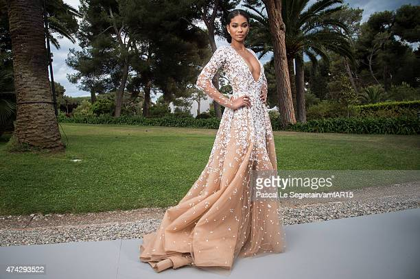 Model Chanel Iman attends amfAR's 22nd Cinema Against AIDS Gala Presented By Bold Films And Harry Winston at Hotel du CapEdenRoc on May 21 2015 in...