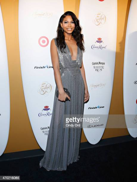 Model Chanel Iman attends as Captain Morgan White Rum and Crown Royal XO raise a glass to the Sports Illustrated Swimsuit 50 Years of Swim Issue at...