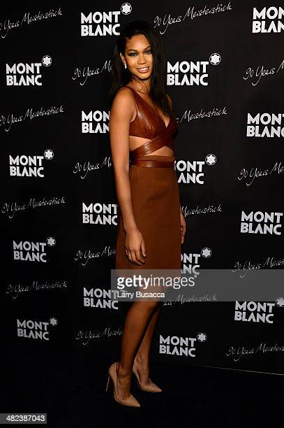 Model Chanel Iman attends Montblanc Celebrates 90 Years of the Iconic Meisterstuck on April 3 2014 at Guastavino's in New York City