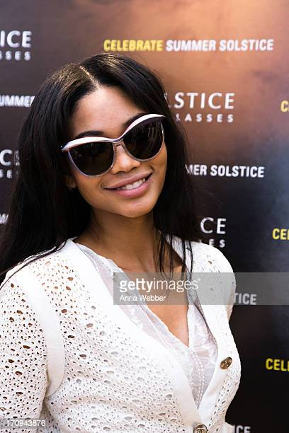Model Chanel Iman attends Solstice Sunglasses Annual Summer Soiree In Flatiron at Solstice Sunglass Boutique on June 19 2013 in New York City
