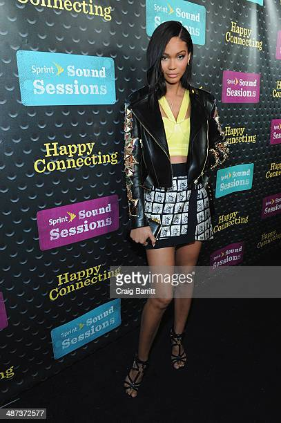 Model Chanel Iman attends Sprint Sound Sessions at Webster Hall on April 29 2014 in New York City
