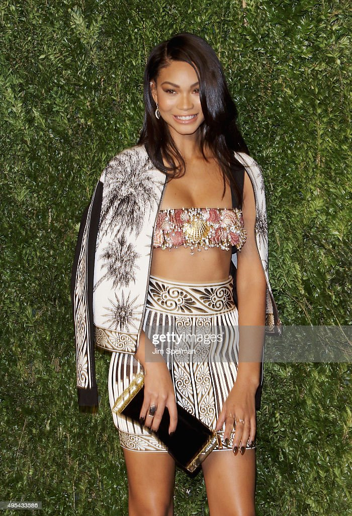Model Chanel Iman attends the 12th annual CFDA/Vogue Fashion Fund Awards at Spring Studios on November 2, 2015 in New York City.