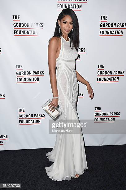 Model Chanel Iman attends the 2016 Gordon Parks Foundation awards dinner at Cipriani 42nd Street on May 24 2016 in New York City