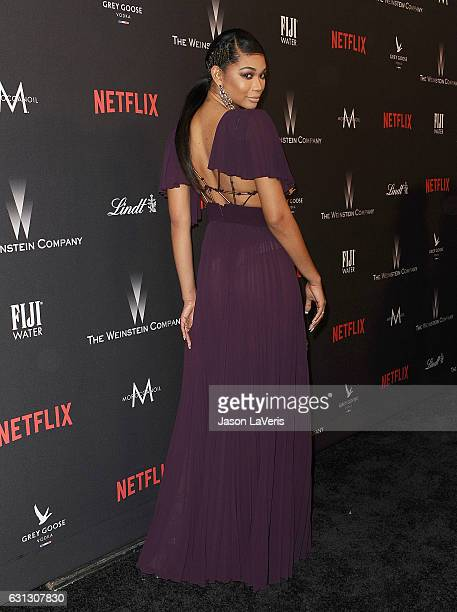 Model Chanel Iman attends the 2017 Weinstein Company and Netflix Golden Globes after party on January 8 2017 in Los Angeles California