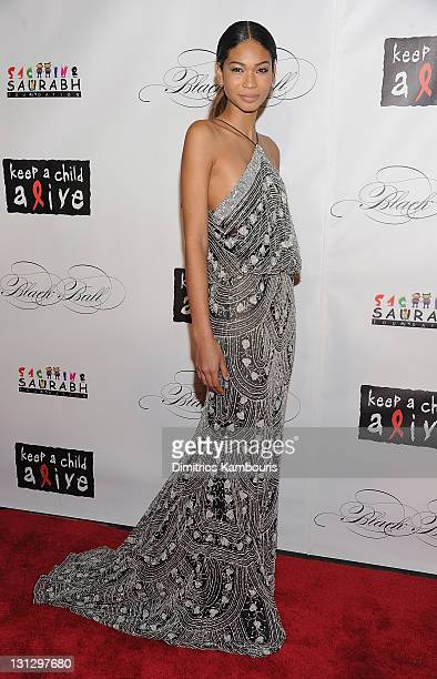 Model Chanel Iman attends the 8th annual Keep A Child Alive Black Ball at the Hammerstein Ballroom on November 3 2011 in New York City
