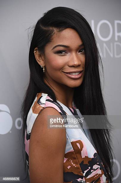 Model Chanel Iman attends the Dior And I NY Premiere on April 7 2015 in New York City