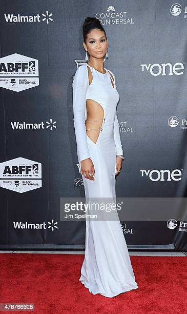 Model Chanel Iman attends the 'Dope' opening night premiere during the 2015 American Black Film Festival at SVA Theater on June 11 2015 in New York...