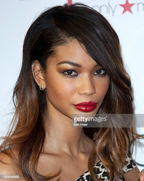 Model Chanel Iman attends the launch of a collaboration with Giambattista Valli at Macy's Herald Square on October 26 2011 in New York City