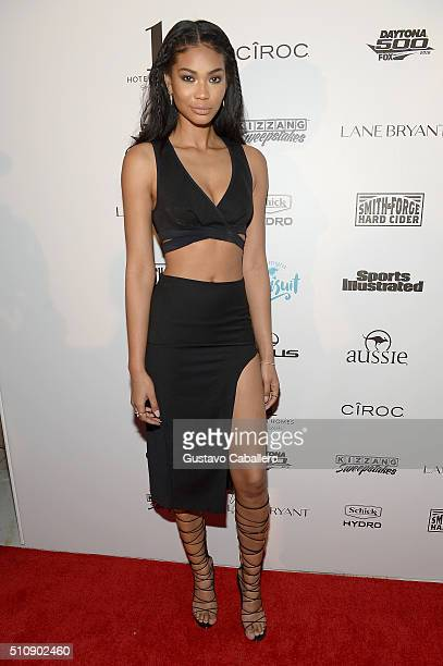 Model Chanel Iman attends the Sports Illustrated Swimsuit 2016 Swim BBQ VIP at 1 Hotel Homes South Beach on February 17 2016 in Miami Beach Florida