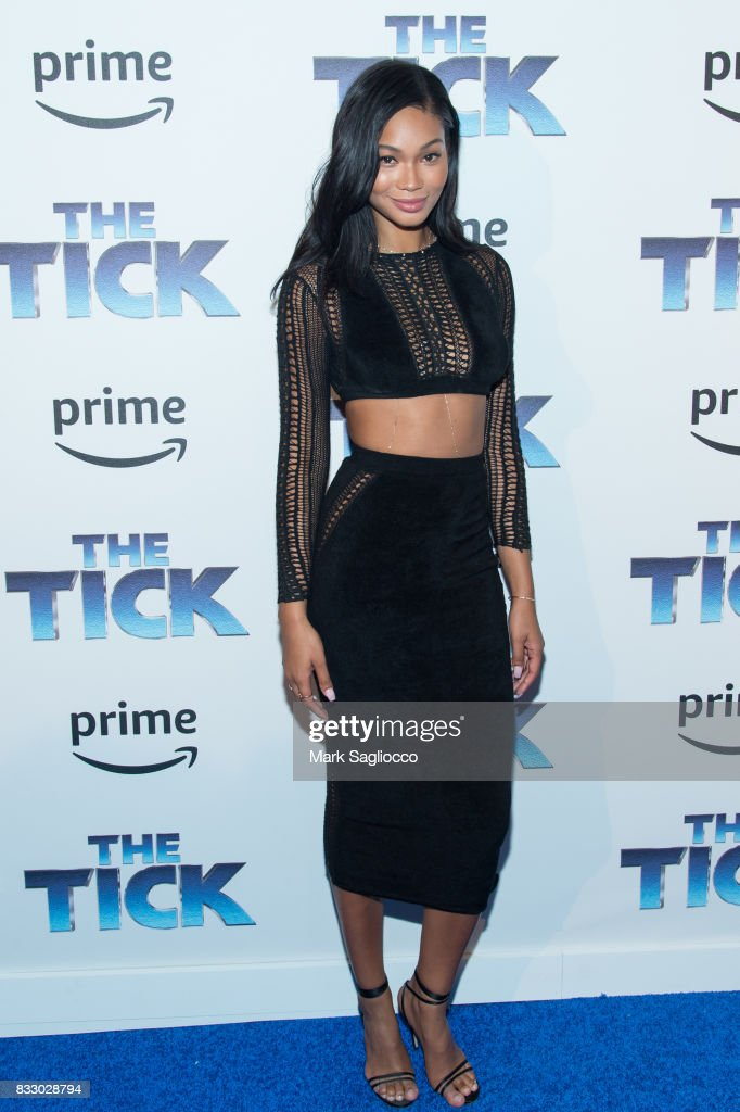 Model Chanel Iman attends the 'The Tick' Blue Carpet Premiere at Village East Cinema on August 16, 2017 in New York City.