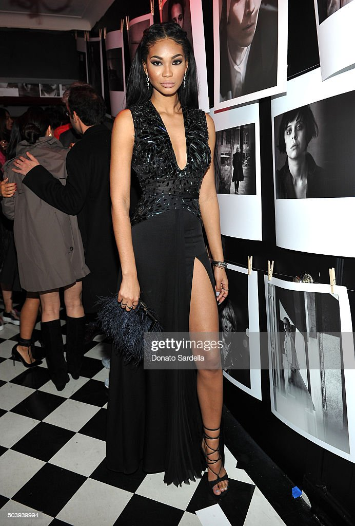 Model Chanel Iman attends the W Magazine celebration of the 'Best Performances' Portfolio and The Golden Globes with Audi and Dom Perignon at Chateau Marmont on January 7, 2016 in Los Angeles, California.