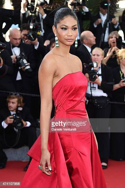 Model Chanel Iman attends the Youth Premiere during the 68th annual Cannes Film Festival on May 20 2015 in Cannes France
