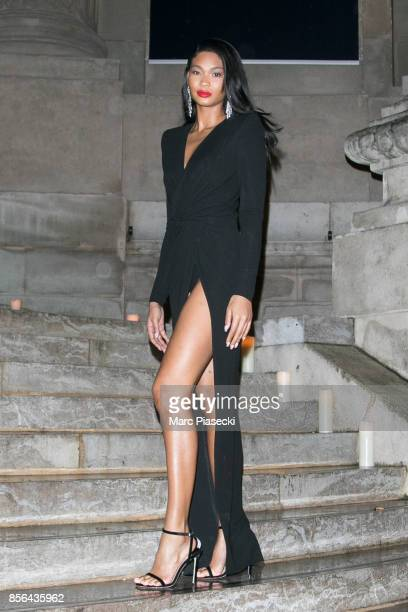 Model Chanel Iman attends Vogue Party as part of the Paris Fashion Week Womenswear Spring/Summer 2018 at on October 1 2017 in Paris France