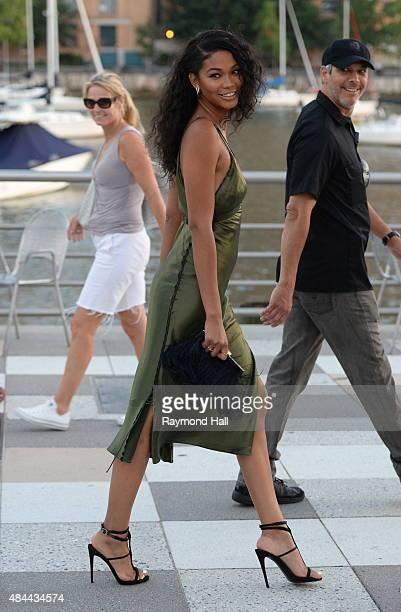 Model Chanel Iman is seen walking in Soho on August 18 2015 in New York City