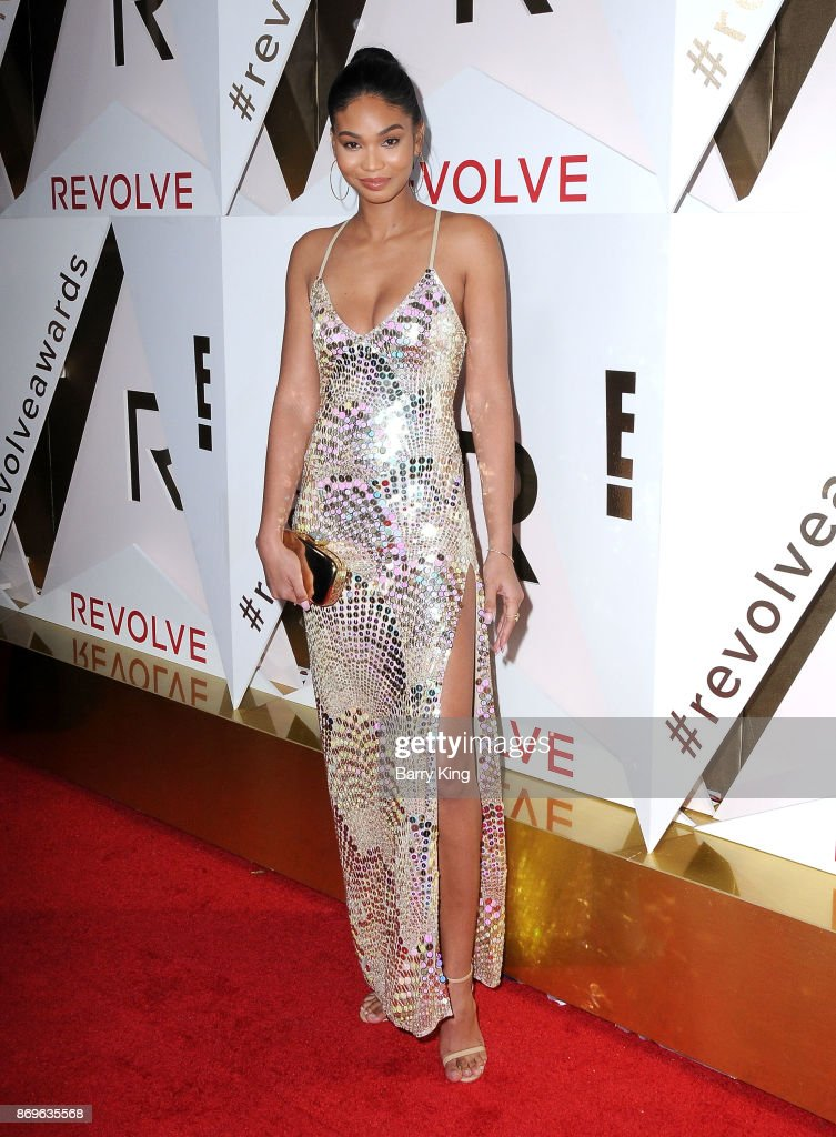 Model Chanlel Iman attends #REVOLVEawards at DREAM Hollywood on November 2, 2017 in Hollywood, California.