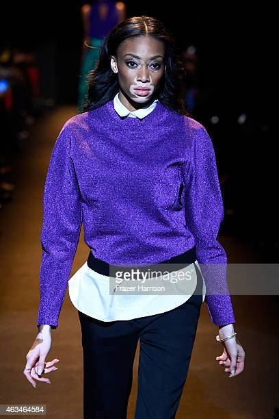 Model Chantelle BrownYoung walks the runway at Naomi Campbell's Fashion For Relief Charity Fashion Show during MercedesBenz Fashion Week Fall 2015 at...