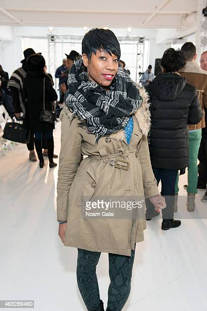 Model Char Glover attends the Darkoh fashion show during MercedesBenz Fashion Week Fall 2015 at The Designer's Loft on February 12 2015 in New York...