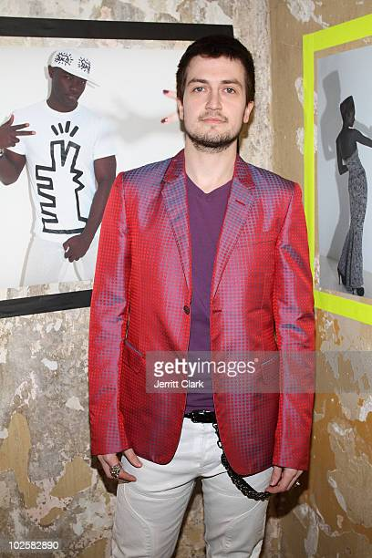 Model Charlie Ward attends the Keith Haring By House Of Field / Paradise Garage Collection Exhibition during MercedesBenz Fashion Week at on February...