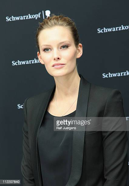 Model Charlott Cordes arrives at the Schwarzkopf Lightbox By Karl Lagerfeld on April 14 2011 in Duesseldorf Germany