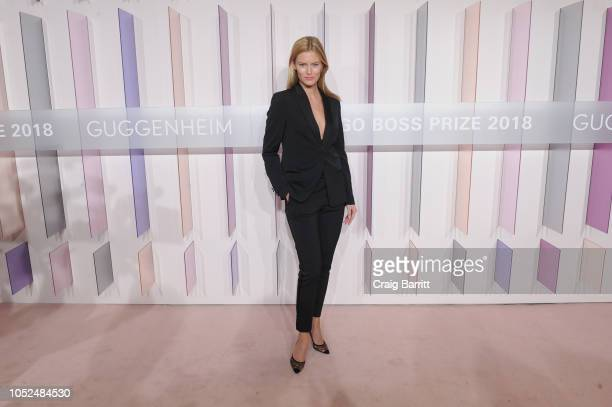 Model Charlott Cordes attends the Hugo Boss Prize 2018 Artists Dinner at the Guggenheim Museum on October 18 2018 in New York City