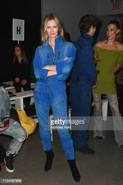 Model Charlott Cordes attends the John John front row during New York Fashion Week The Shows at Gallery I at Spring Studios on February 12 2019 in...