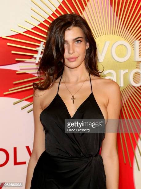 Model Charlotte D'Alessio attends Revolve's second annual #REVOLVEawards at Palms Casino Resort on November 9 2018 in Las Vegas Nevada