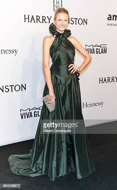 Model Charlotte Di Calypso attends the 2015 amfAR New York Gala at Cipriani Wall Street on February 11 2015 in New York City