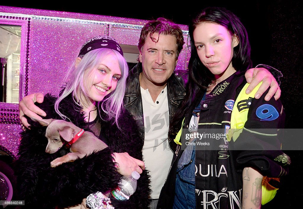 Model Charlotte Free, Wildfox CEO Jimmy Sommers, and guest attend the Barbie Loves Wildfox party celebrating the Resort 2014 collaboration launch at the Wildfox Flagship Store on November 20, 2014 in West Hollywood, California