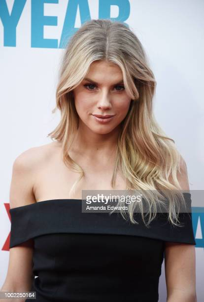 Model Charlotte McKinney arrives at a special screening of Netflix's 'Father Of The Year' at ArcLight Hollywood on July 19 2018 in Hollywood...