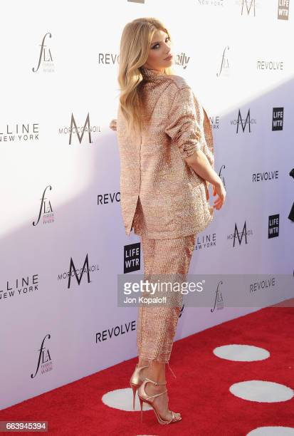 Model Charlotte McKinney arrives at the Daily Front Row's 3rd Annual Fashion Los Angeles Awards at the Sunset Tower Hotel on April 2 2017 in West...