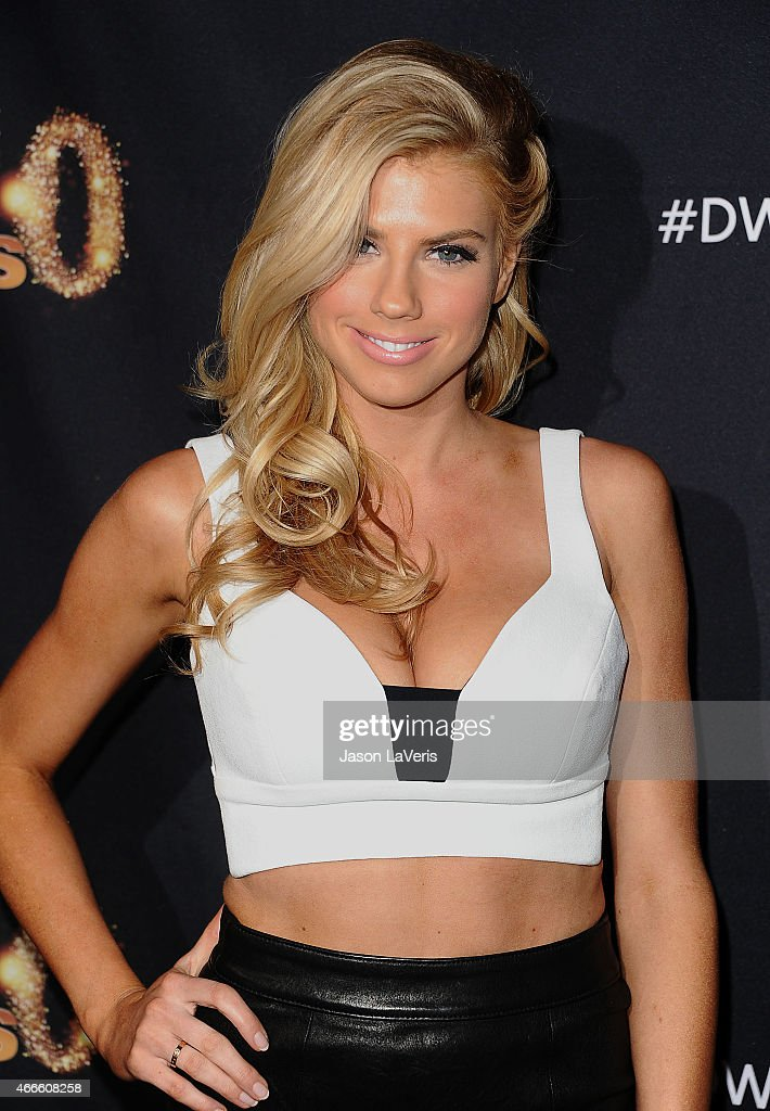 Model Charlotte McKinney attends ABC's 'Dancing With The Stars' season premiere at HYDE Sunset: Kitchen + Cocktails on March 16, 2015 in West Hollywood, California.