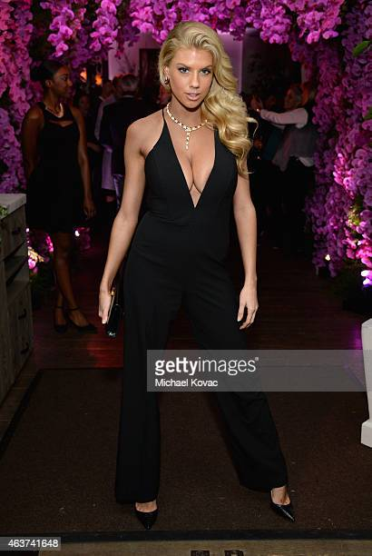 Model Charlotte McKinney attends BVLGARI and Save The Children STOP THINK GIVE PreOscar Event at Spago on February 17 2015 in Beverly Hills California