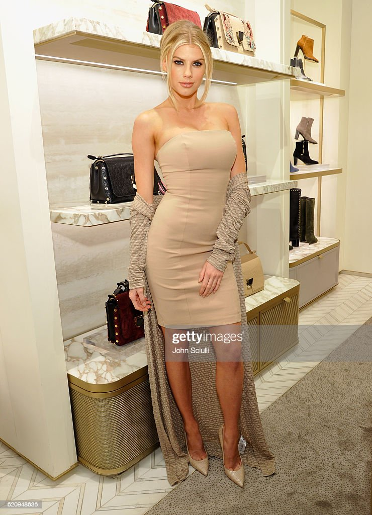 Model Charlotte McKinney attends Jimmy Choo in association with Cindy Crawford and Katharina Harf to host an evening to support Delete Blood Cancer on November 3, 2016 in Beverly Hills, California.