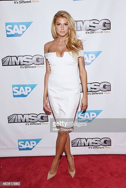Model Charlotte McKinney attends MSG Networks Original Programming Party at Madison Square Garden on February 5, 2015 in New York City.